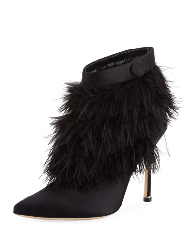 Oterala Satin & Feather Bootie