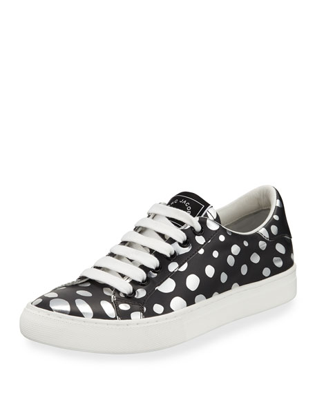 Marc Jacobs Empire Dotted Low-Top Sneaker, Dark Silver/Multi