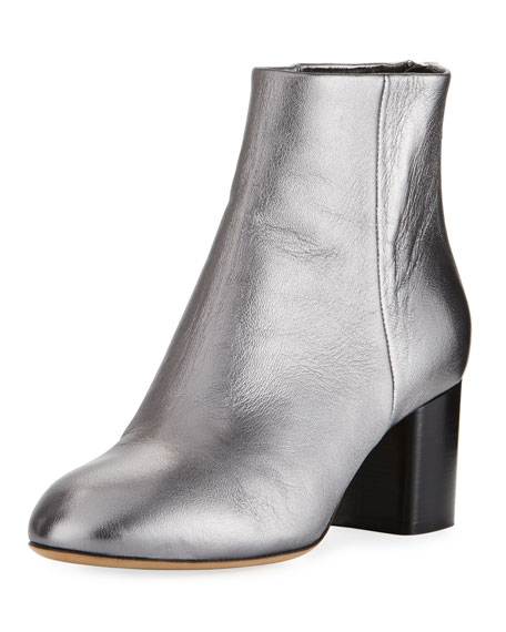Drea Metallic Napa Leather Ankle Boot