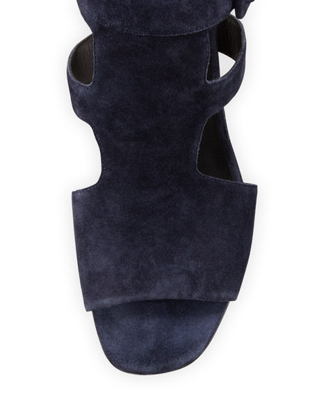 Madison Suede Cutout Sandal