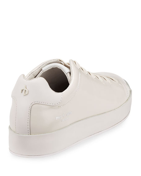 RB1 Spazzolato Low-Top Sneaker with Leather-Wrapped Sole