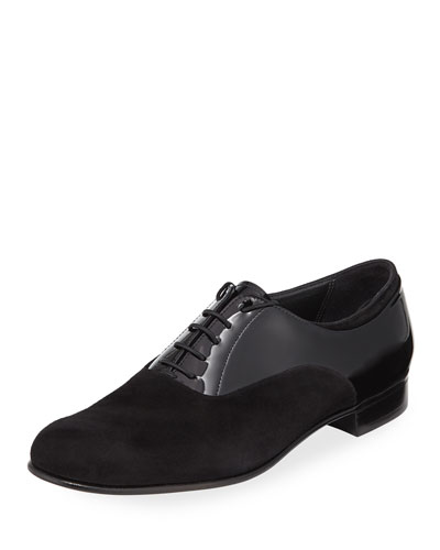 Suede and Patent Leather Oxford