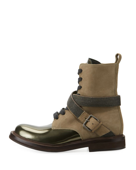 Leather Lace-Up Hiking Boot