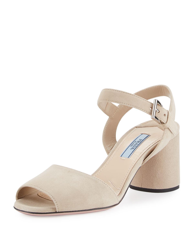 428c3590da5 Prada Suede Ankle-Strap 65mm Sandal