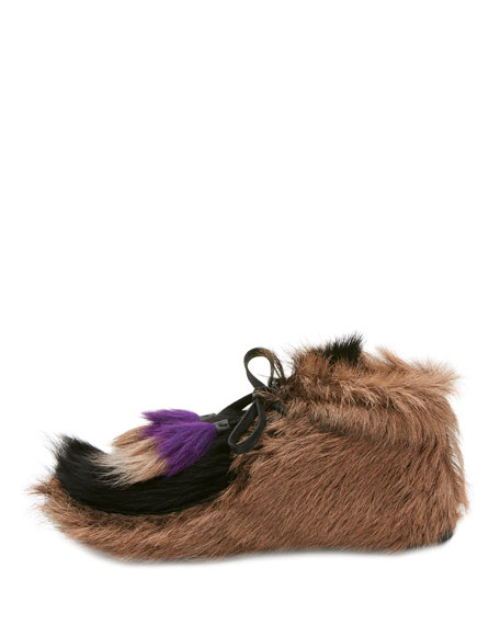 Fur Tassel Self-Tie Boots