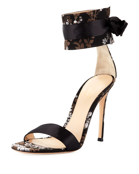 Gianvito Rossi Floral Slide Sandals discount with mastercard IvBYnzk