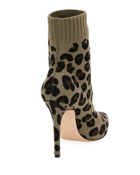Sauvage Leopard Knit Sock Boot