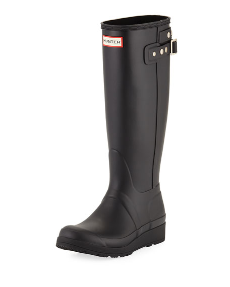 Hunter Boot Original Tall Wedge Rubber Welly Boot