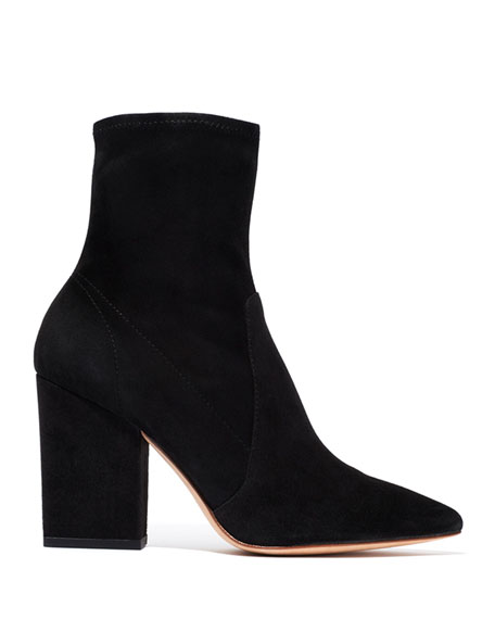 Isla Suede Chunky-Heel Boots