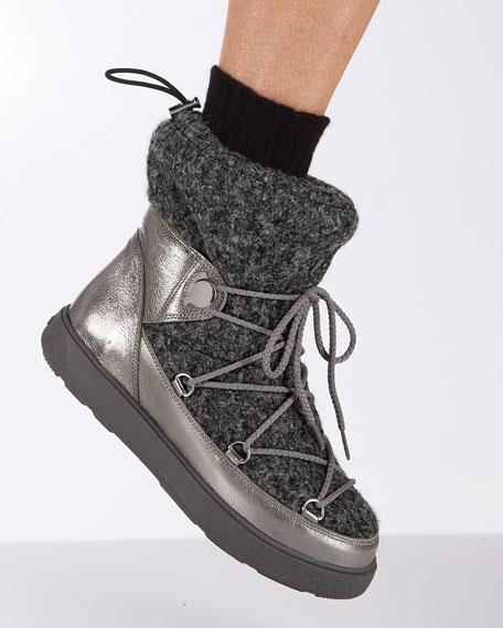 Ynnaf Wool & Leather Snow Boot