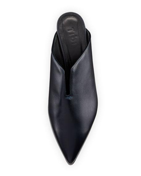 Dana Leather Low-Heel Mule Pump