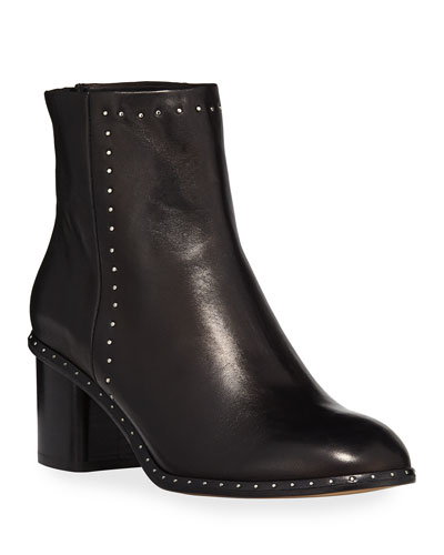 Willow Studded 50mm Ankle Boot, Black