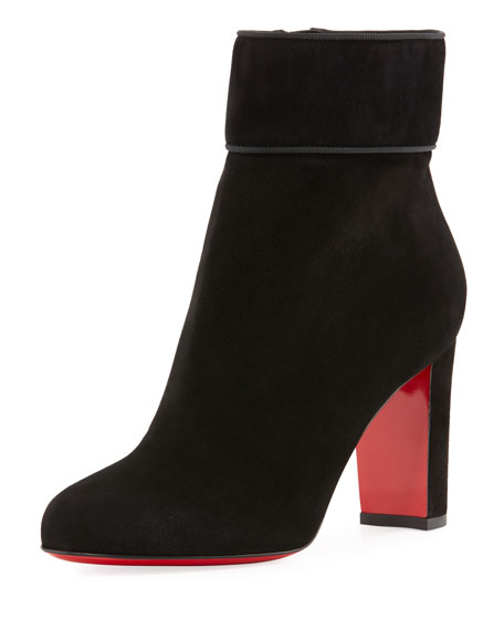 Christian Louboutin Moulamax Suede 85mm Red Sole Bootie