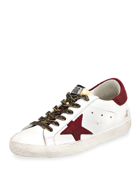 Golden Goose Superstar Mixed Lace-Up Sneaker