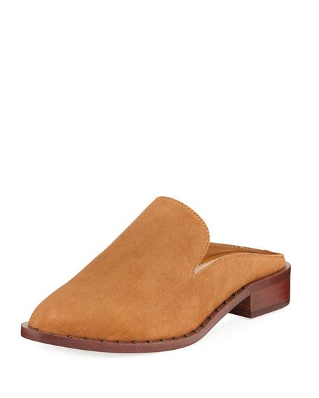 Sam Edelman Lewellyn Low Stacked Suede Slide Loafer