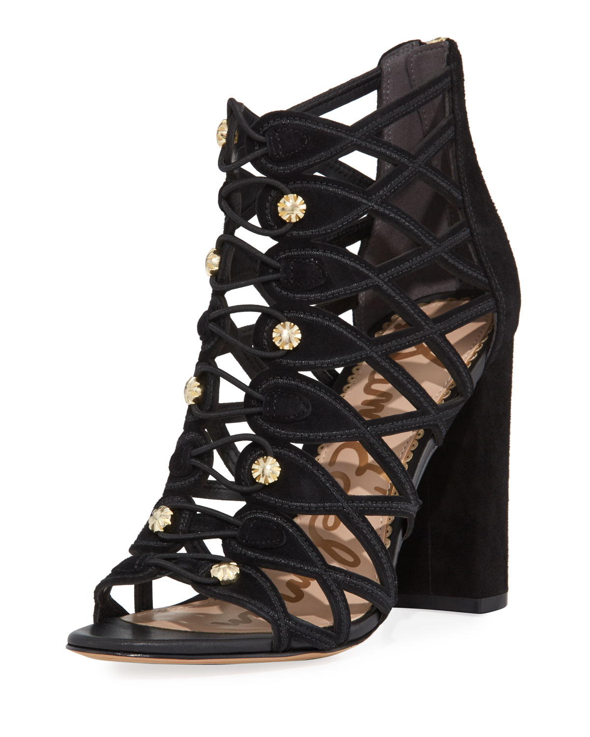 4a50dce31 Sam Edelman Yeager Military Caged Open-Toe Bootie
