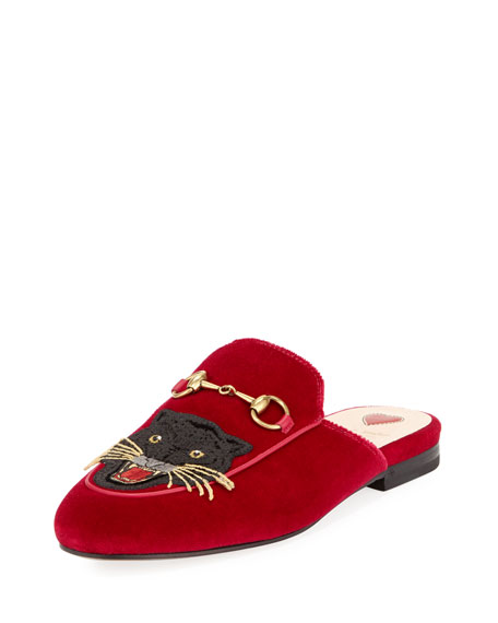 PRINCETOWN VELVET ANGRY CAT MULE, RED