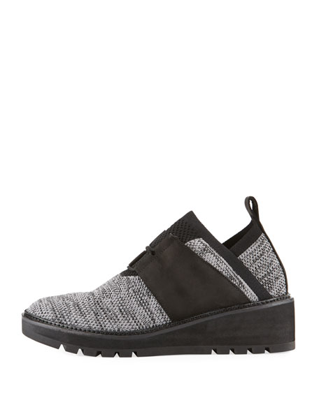 Wilson Lace-Up Knit Wedge Walking Shoes