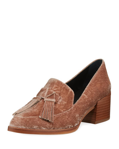 Edie Velvet Tassel Loafer Pump