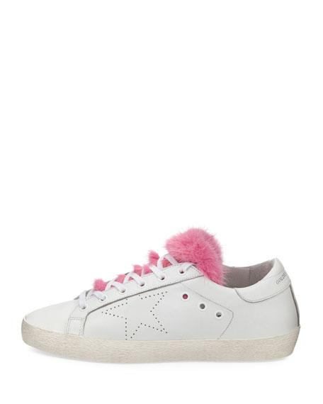 Superstar Fur-Trim Low-Top Sneaker
