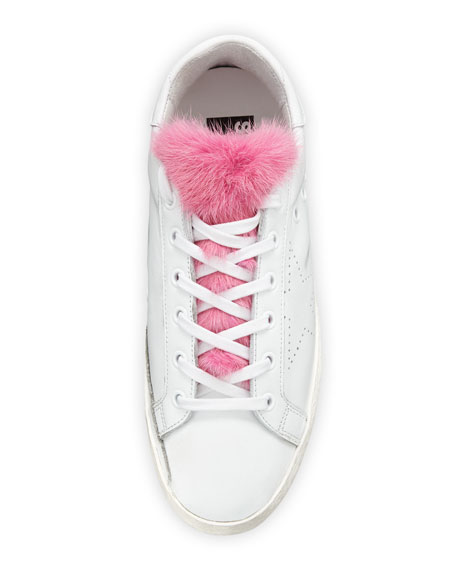 Superstar Fur-Trim Low-Top Sneakers