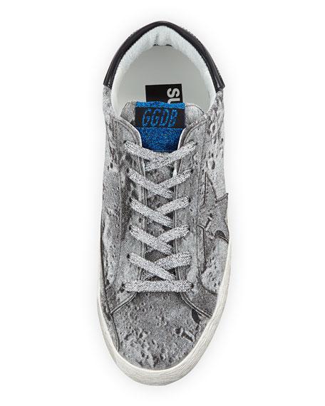 Superstar Glittered Platform Sneakers, Silver