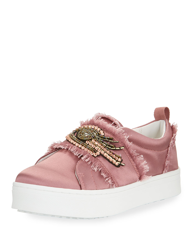 7678e3b132a5 Sam Edelman Levine 2 Satin Platform Slip-On Sneaker