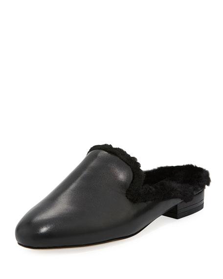 MICHAEL Michael Kors Natasha Flat Faux-Fur Mule Loafer