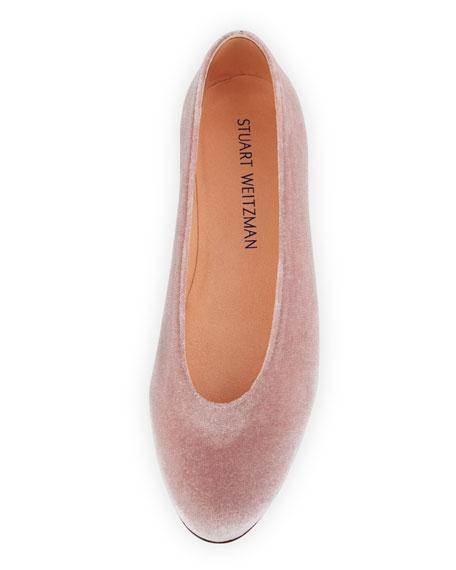 Chicpearl Velvet Ballerina Flat