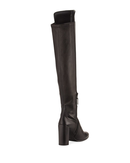 Allhyped Stretch Leather Over-The-Knee Boot