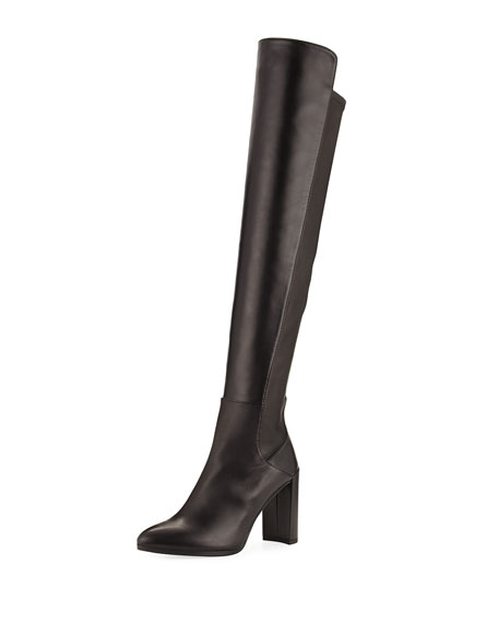 Stuart Weitzman Allhyped Stretch Leather Over-The-Knee Boot