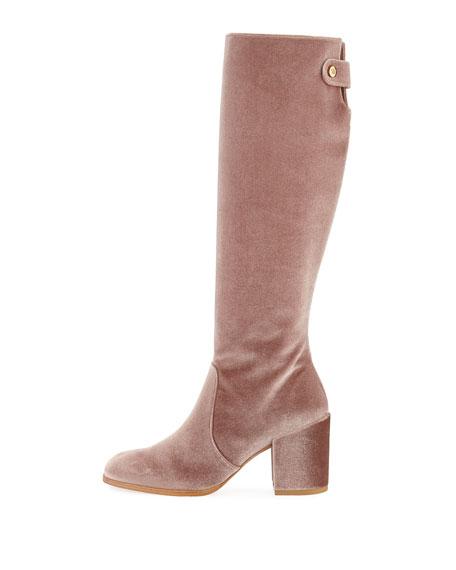 Suburb Velvet Knee Boot