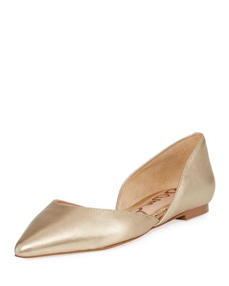 Sam Edelman Rodney Metallic Leather Ballerina Flat