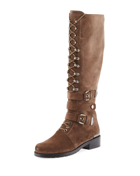 Stuart Weitzman PoliceLady Velour Knee-High Boot