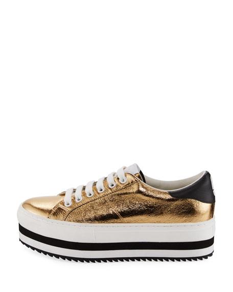 Grand Platform Metallic Low-Top Sneaker