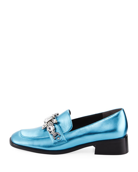 Tilde Embellished Metallic Loafer