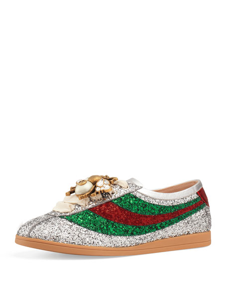 Gucci Falacer Glittered Low-Top Sneaker