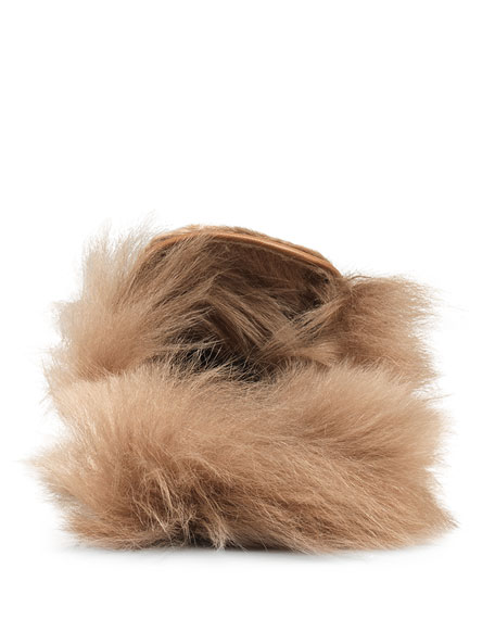 Shearling Fur Loafer Mule