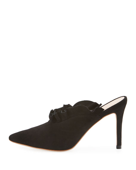 Langley Suede Ruffle 70mm Mule