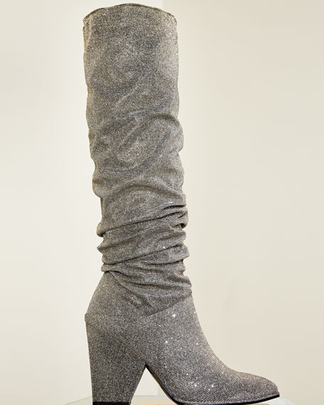 Stuart Weitzman Smashing Sparkle Knee Boot