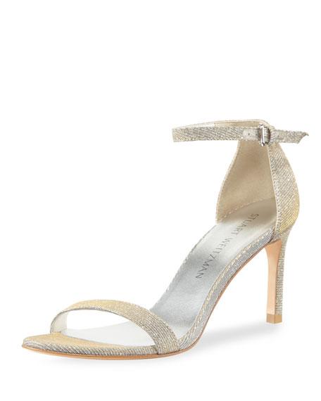 Stuart Weitzman Nunaked Straight Sparkle Sandal