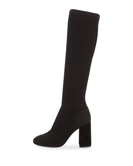 Image 2 of 4: Sam Stretch-Knit Knee Boot