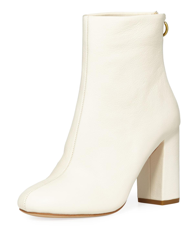 Joie Saleema Leather Block Heel Booties 4Kvf1WlL2