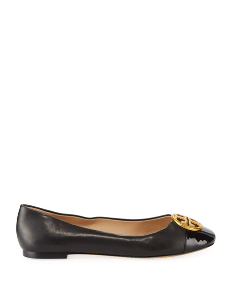 Chelsea Soft Leather Cap-Toe Ballet Flat
