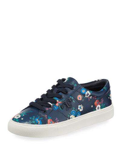 Amalia Pansy-Print Low-Top Sneaker