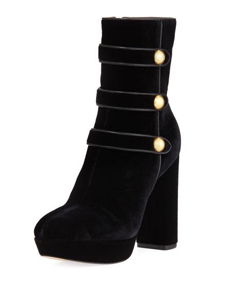 MICHAEL Michael Kors Maisie Velvet Platform Ankle Boot