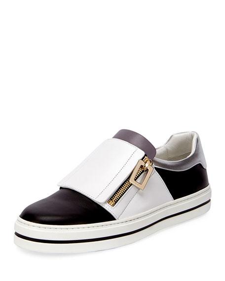 Roger Vivier Sneaky Viv Colorblock Low-Top Sneaker, Black