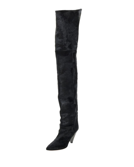 Lostynn Over-The-Knee Fur Boot,