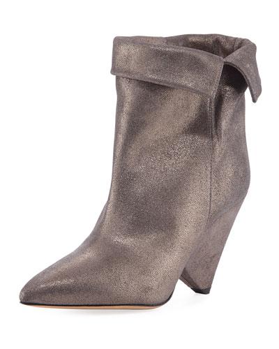 Luliana Cone-Heel Glitter Bootie