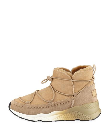 Mitsouko Shearling Suede Sneaker